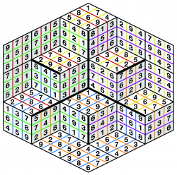 Sample giant 3D sudoku solution