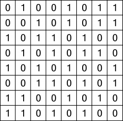 Binary puzzle solution