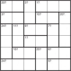 Mystery Calcudoku 6x6