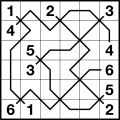 Diagonal Numberlink puzzle