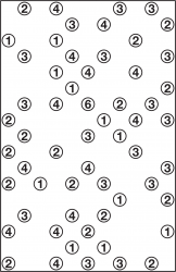 Medium-size Hashi puzzle