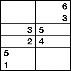 image relating to 6x6 Sudoku Printable identified as Get Sudoku logic puzzles towards Any Puzzle Media
