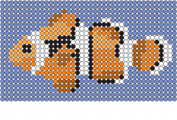 Clownfish colour by pixel