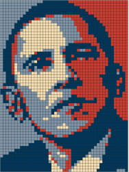 Obama grid colouring