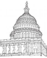 US Capitol dot-to-dot puzzle