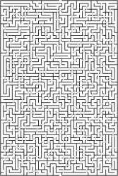 Large bridge maze