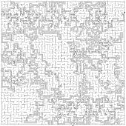 Large maze solution