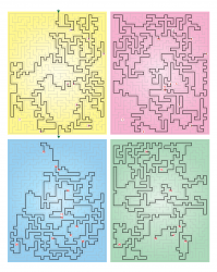 Multi-floor maze solution
