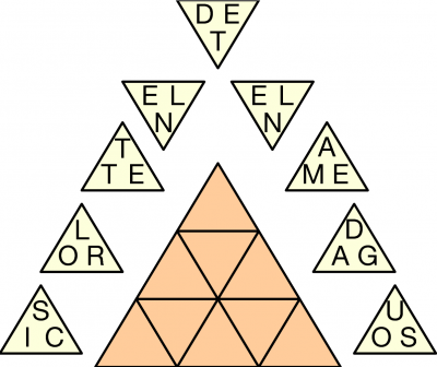 Letter Triangles example