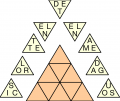 Letter Triangles puzzles