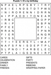 Shaped Wordsearch