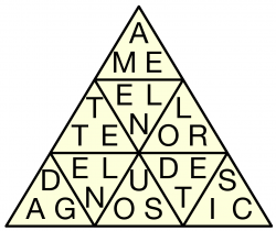 Solved Letter Triangles